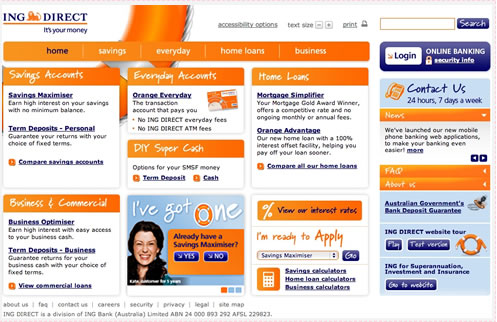 ING Direct Website