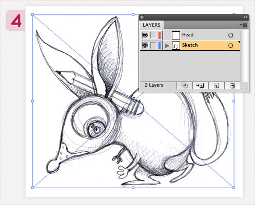 Red Bilby - vector character tutorial
