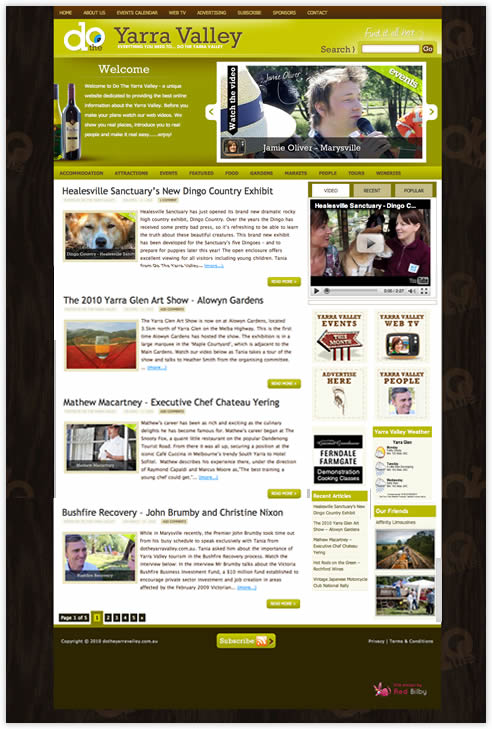 Do The Yarra Valley website