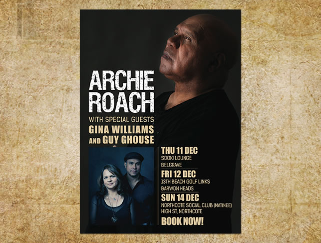 Archie Roach Gig Poster Design Red Bilby