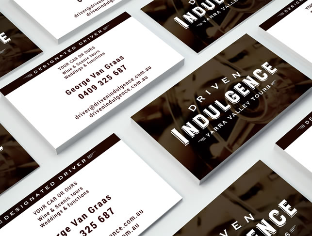 Driven Indulgence Business Cards